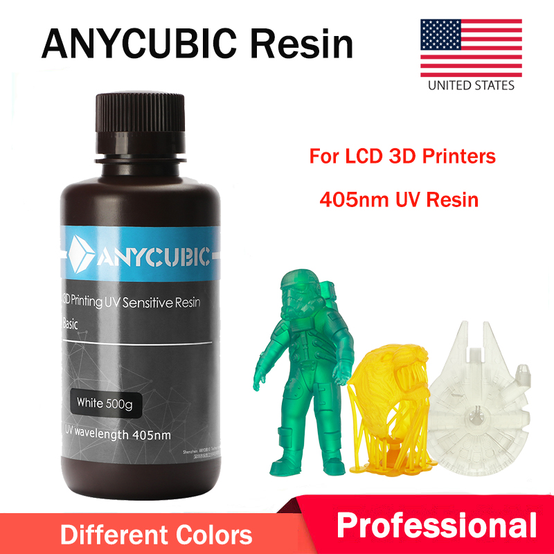 ANYCUBIC Black Color 405nm UV Sensitive Resin for SLA Photon 3D Printer 500g US