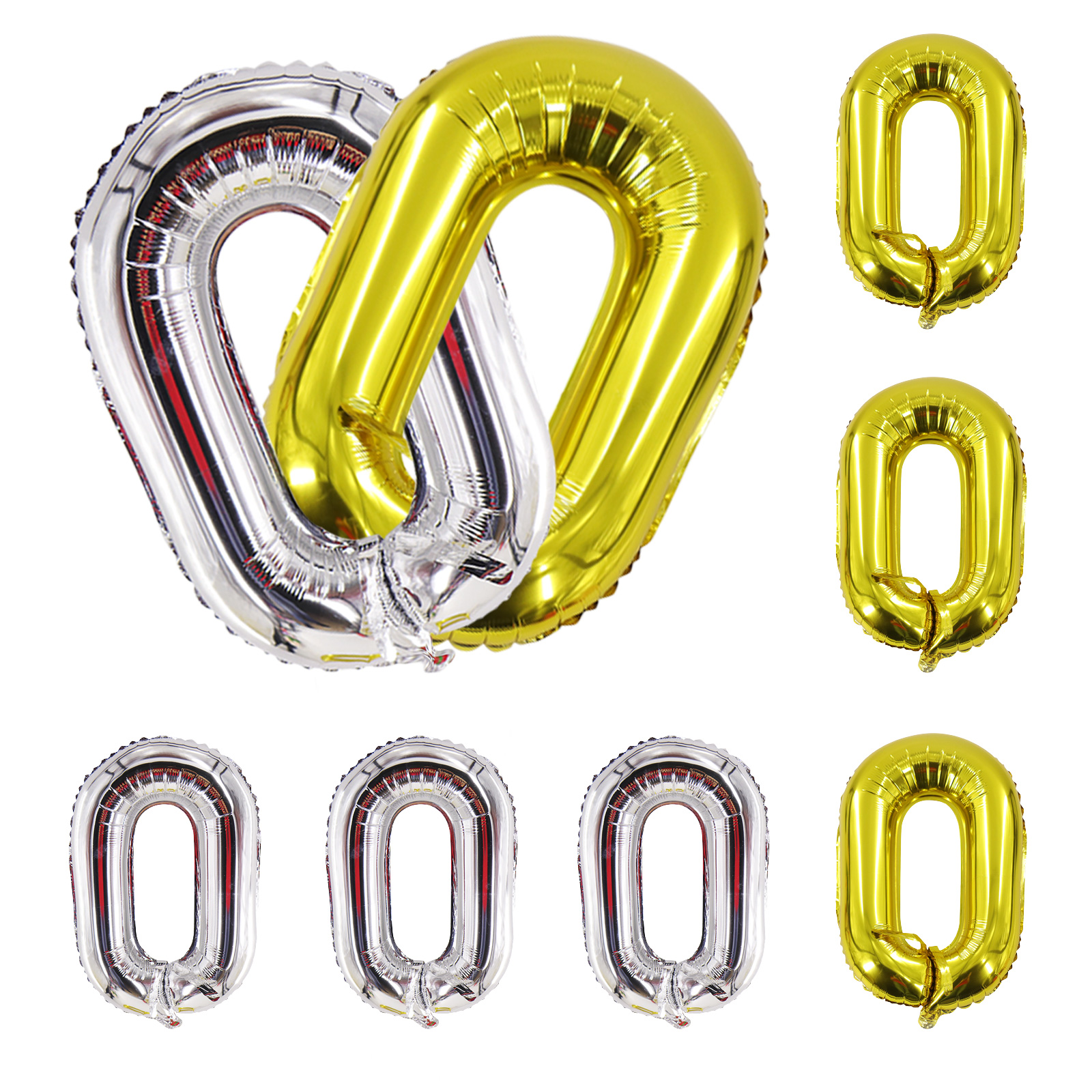 22/'/' Gold Silver Links Chain Connect Foil Balloons Wedding Birthday Party Decor