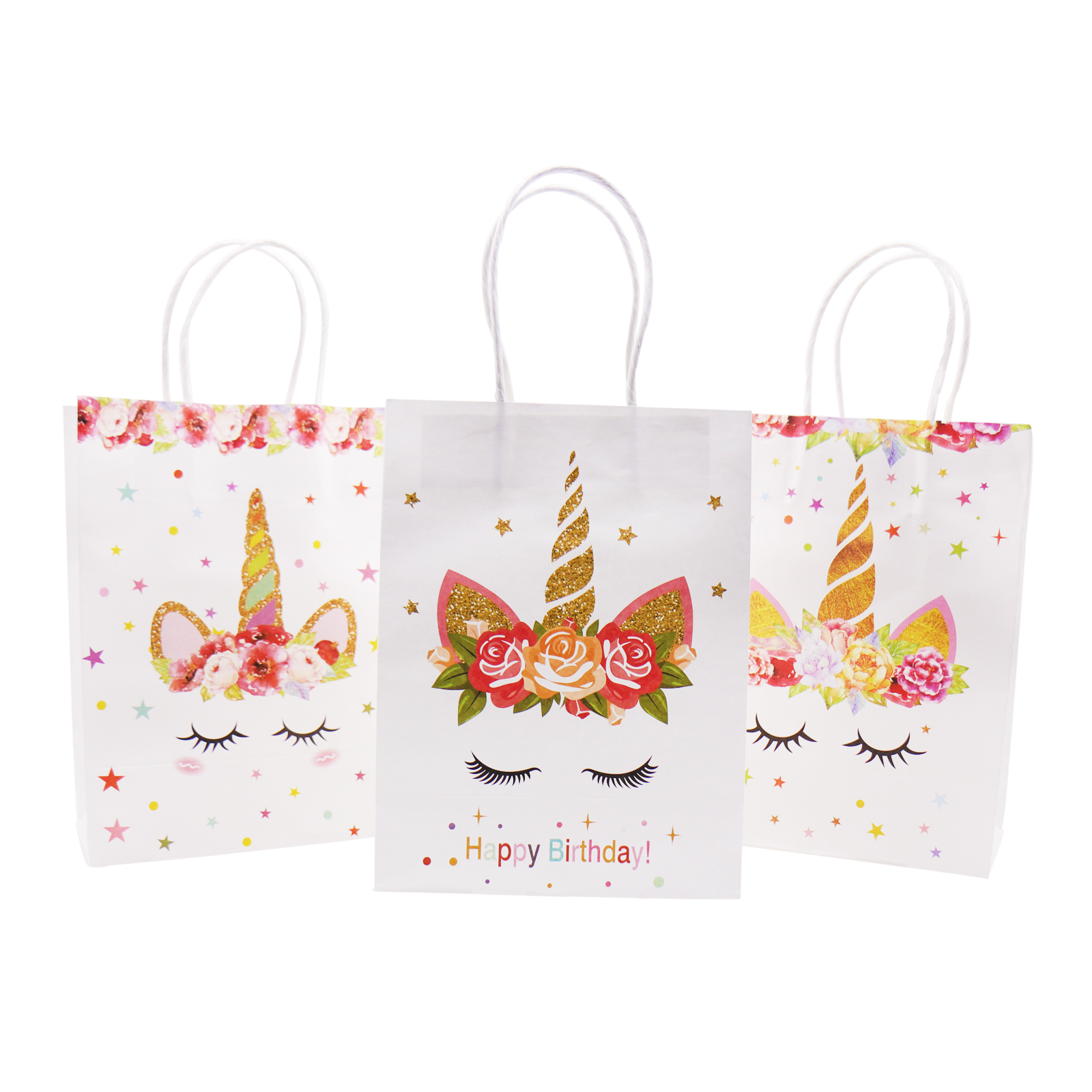 PAPER PARTY LOOT BAGS Birthday Christmas Colour Gift Treat Sweet Candy Bag