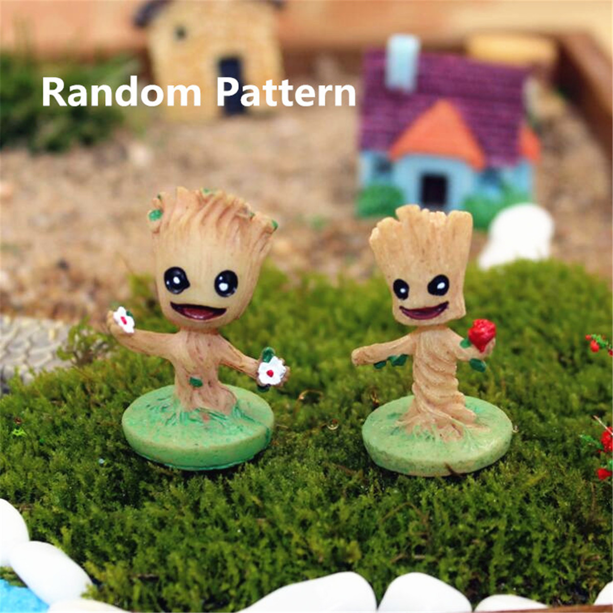 Resin Guardians of The Galaxy Baby Groot Micro Landscape Garden ...
