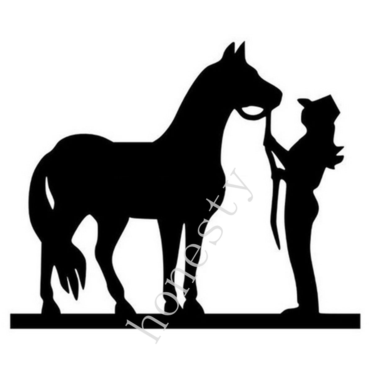 COWGIRL AND HORSE Cartoon Stickers Motorcycle Decals Car ...