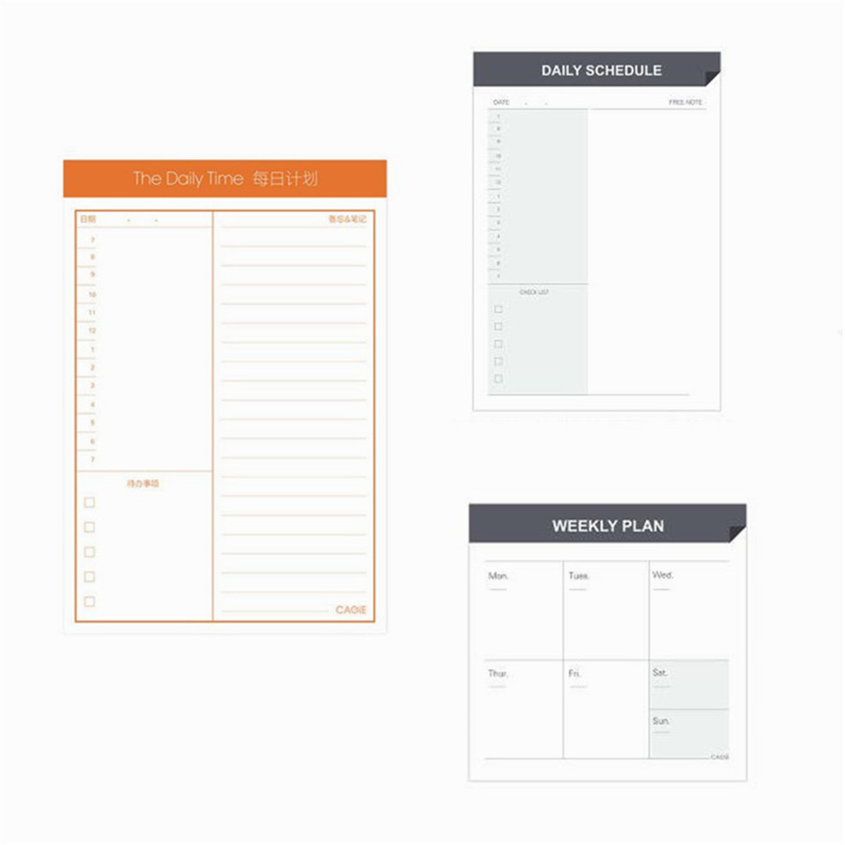 Monthly Weekly Daily Journal Schedule Planner NotePad Organizer Check List #BY5