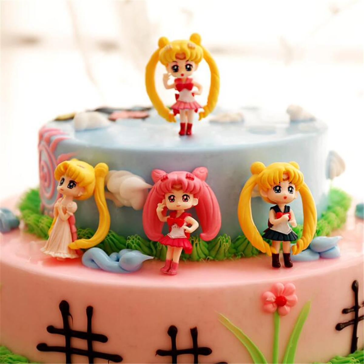 1pc Anime Sailor Moon Resin Figures Figurine Model Toys Dolls Garden