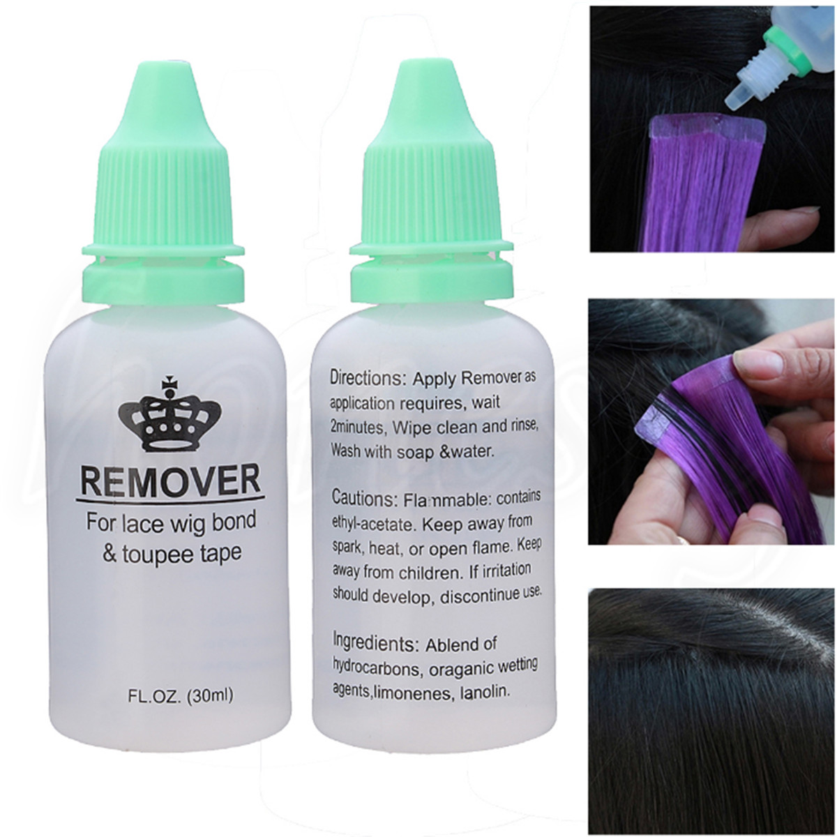 1pc 30ml Adhesive Tape Remover For Tape Hair Extensions And Lace Wig