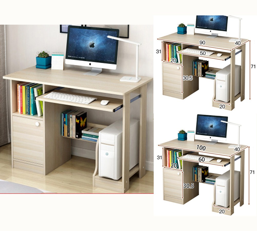 Details About Modern Computer Desk Pc Laptop Table Workstation Study Home Office Furniture
