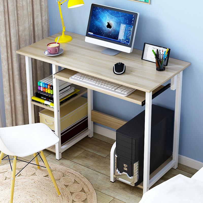 Computer Desk Indoor Furniture Workstation Laptop Table W// Shelves/&Keyboard tray
