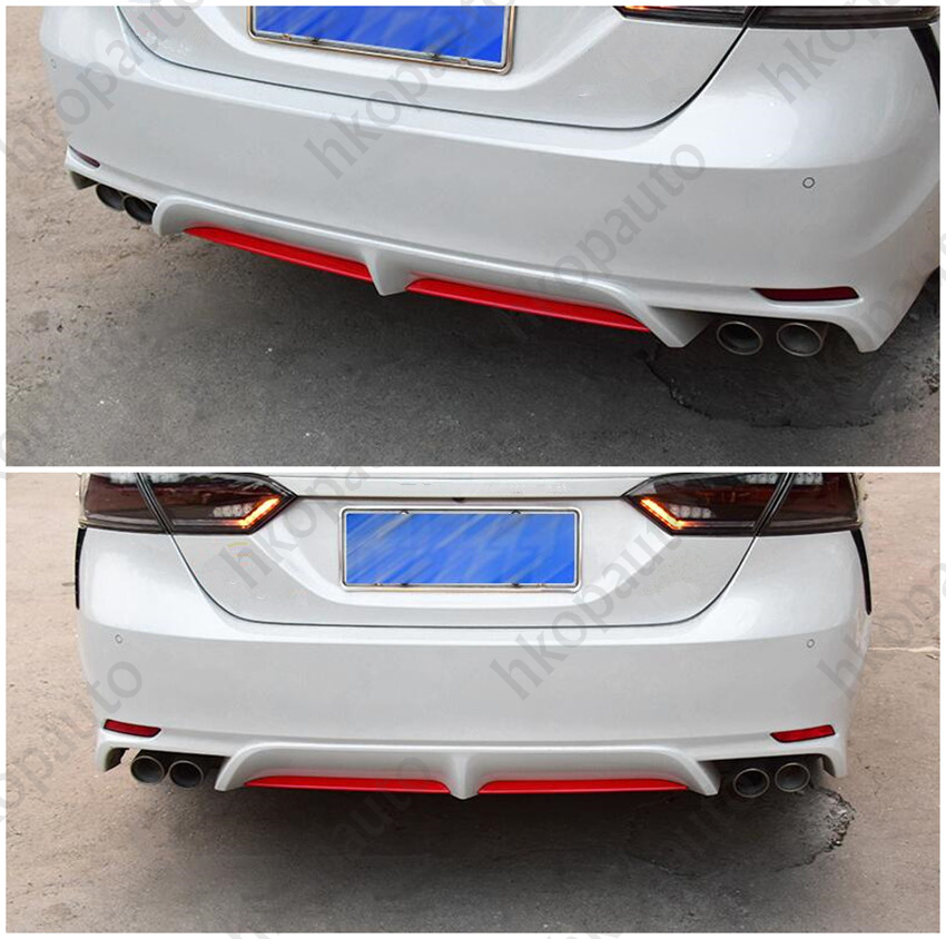 Stainless Steel Rear Rear Bumper Rear Lip Cap Cover Trim For Toyota Camry 2018