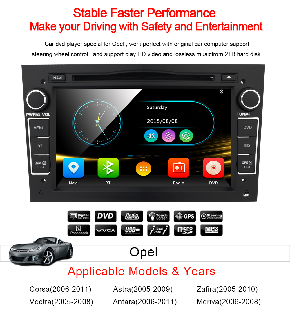 Details About Vauxhall Opel Combo Zafira 7Car Radio DVD Player Stereo GPS Navigation Canbus
