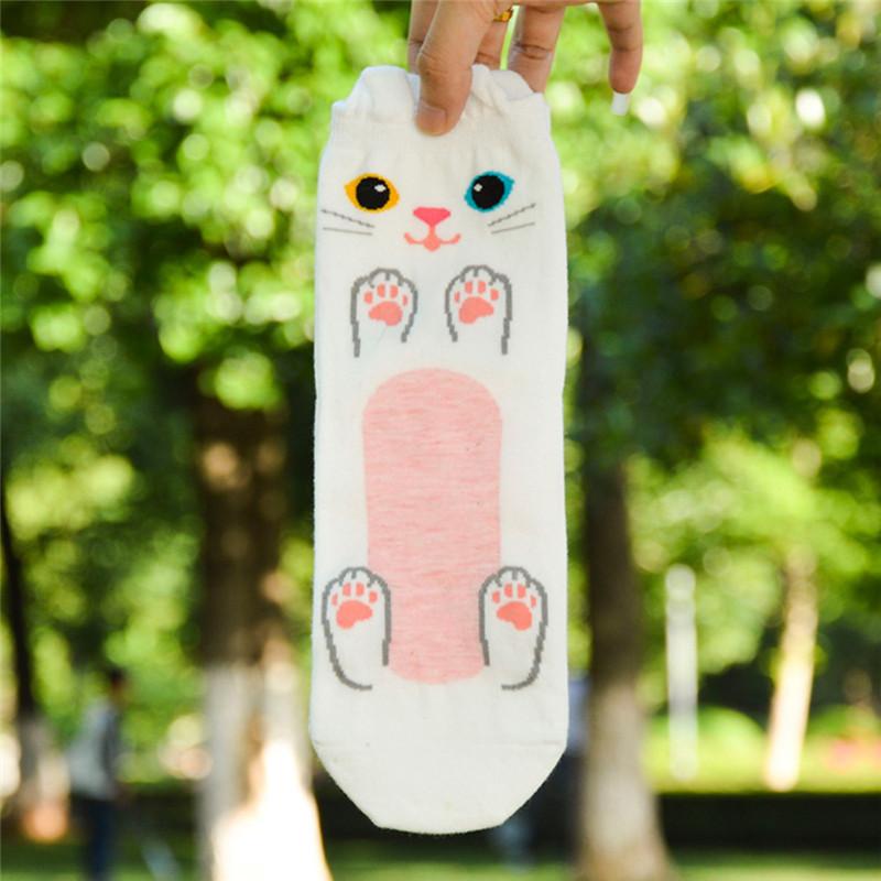 Fashion-Women-Girls-Cute-3D-Animal-Cartoon-Cat-Printed-Casual-Ankle-high-Socks miniature 35