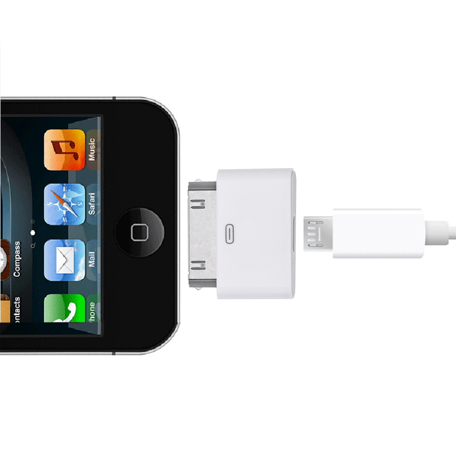 Micro Usb Converter Adapters For Iphone 4 4s 5 5s 6 6s 6