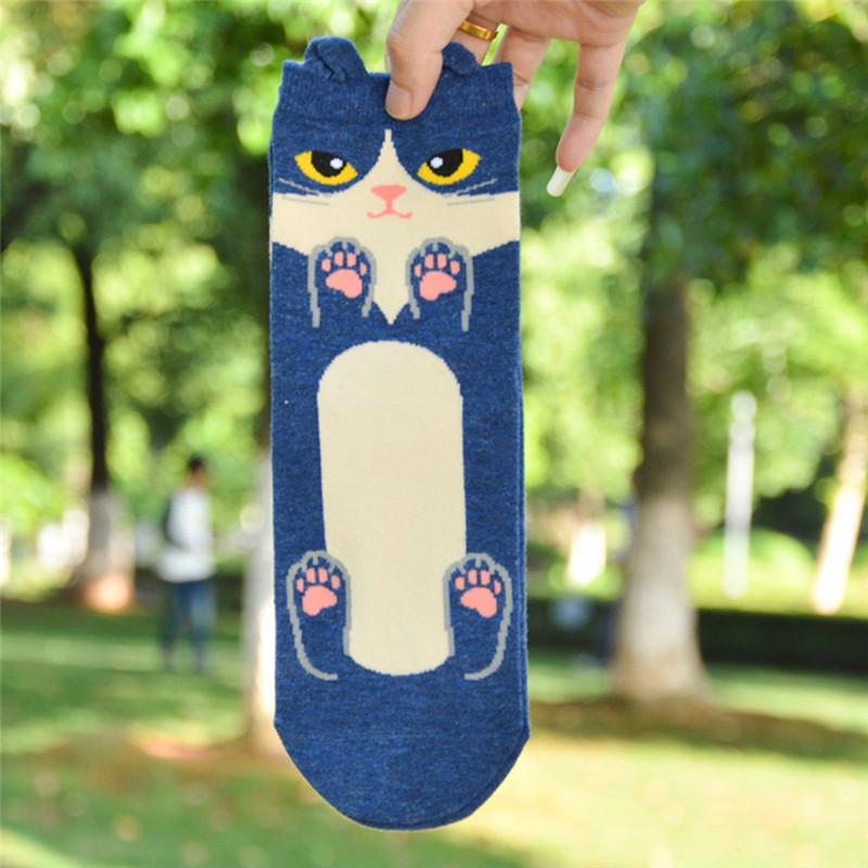 Fashion-Women-Girls-Cute-3D-Animal-Cartoon-Cat-Printed-Casual-Ankle-high-Socks miniature 18