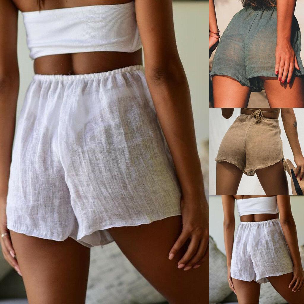 5235a1f7de Details about Women Hot Pants Summer Casual Loose Shorts Bow Beach High  Waist Short Trousers