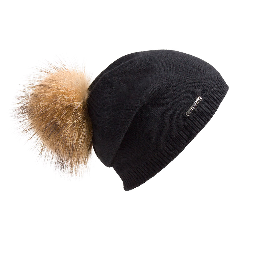 Women Oversized Slouchy Beanie Bobble Hat with Real Fur Pompom 17601 ... 346c48c09b6
