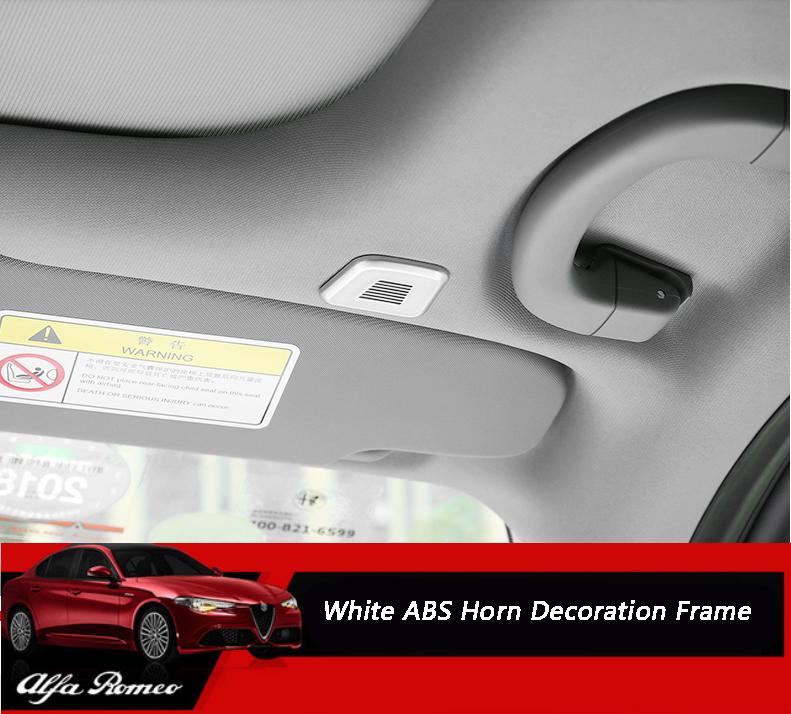 ABS White Interior Speaker Horn Frame Cover Trim For Alfa