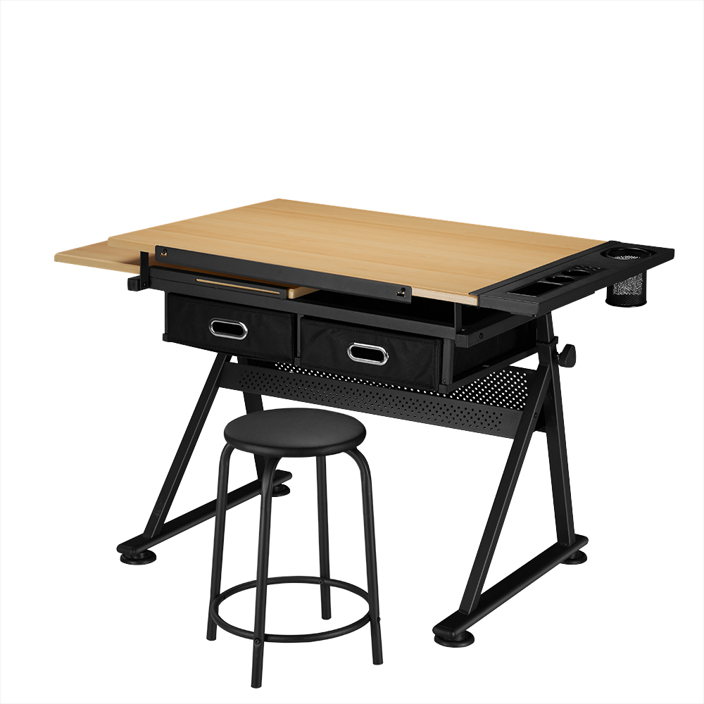 Adjule Drawing Board Table With Stool Drafting Craft Architect Desk Stand