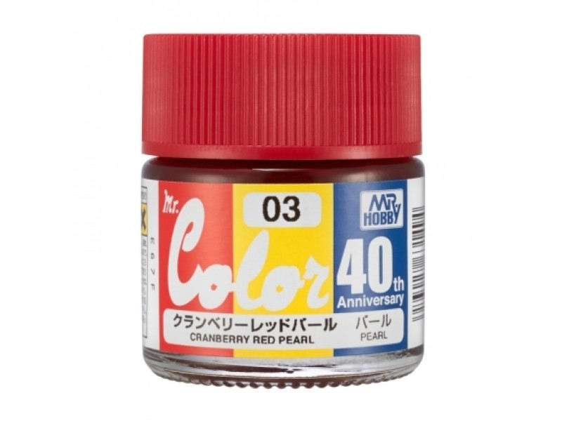 Details About Gsi Creos Gunze Mr Hobby Color Cranberry Red Pearl Avc03 Paint 40th Anniversary