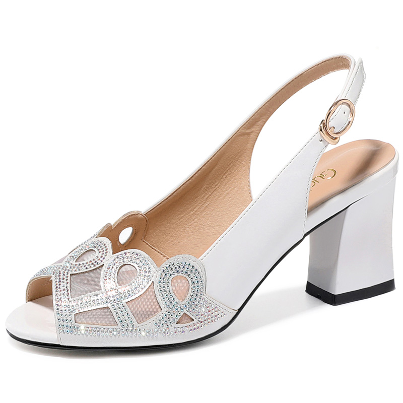 Girls Womens Patent Leather Slingback Sandals Block Heel