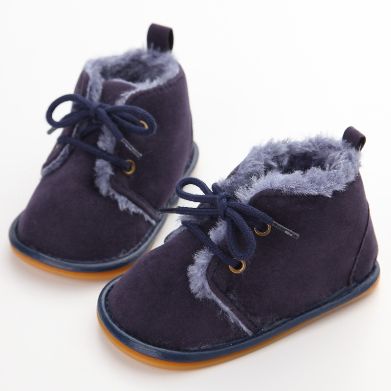 Baby Toddlers Winter Fleece Pre Walker Shoes Boots Infant Trainer Boys Girls