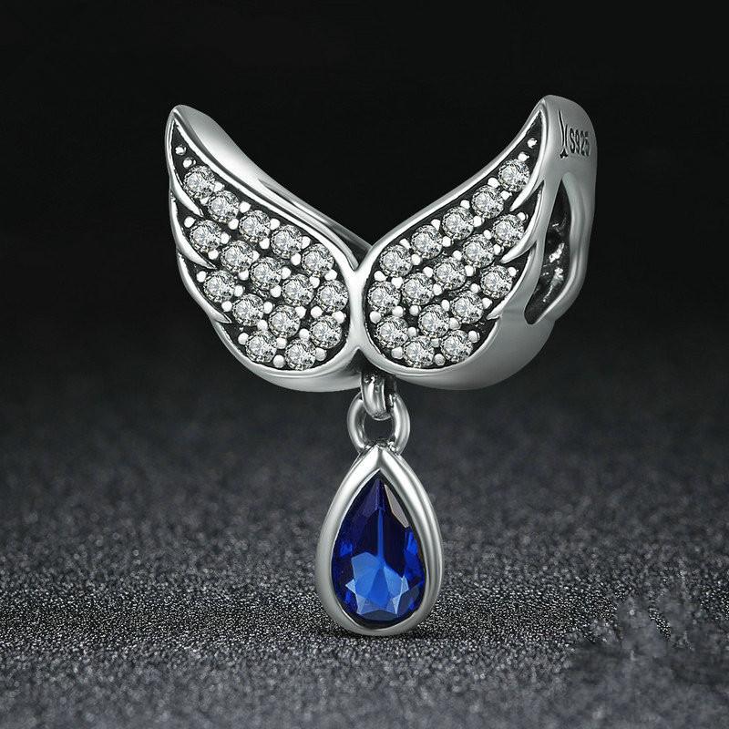 DIY 2Pcs Libra European CZ Charm Beads Fit 925 Silver Pendant Necklace Bracelet