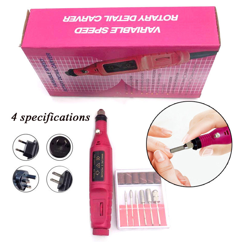 Pro Electric Nail File Drill Repair Tools Pedicure Machine Kit US/UK/EU Plug