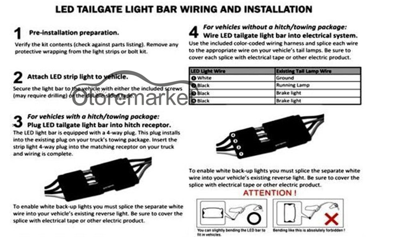 For Ford F-150 F150 2007-2017\' LED Tailgate Strip Bar Truck Backup ...