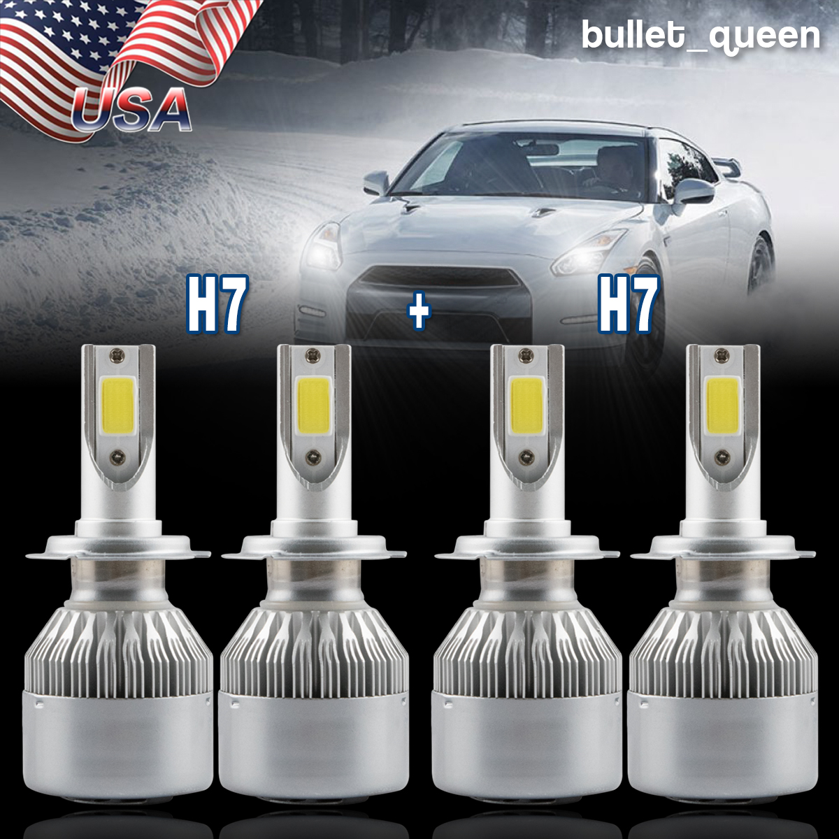 H7 H-7 Headlight Bulb