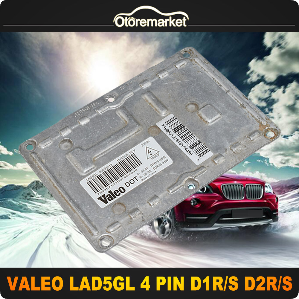 OEM D1S//R D2S//R 4 PIN Xenon HID Headlight Ballast Valeo LAD5GL For Audi Volvo VW