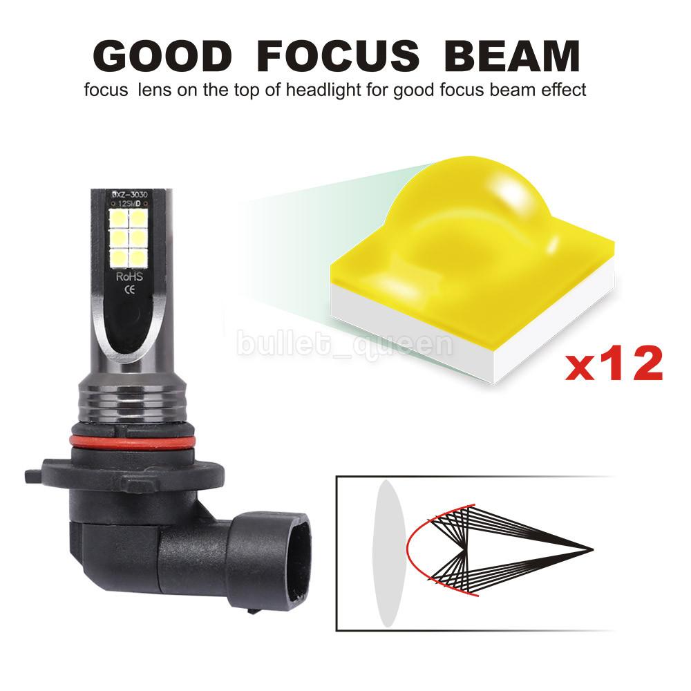 9005 LED DRL Daytime Running Light Fog Bulb H11 H8 White