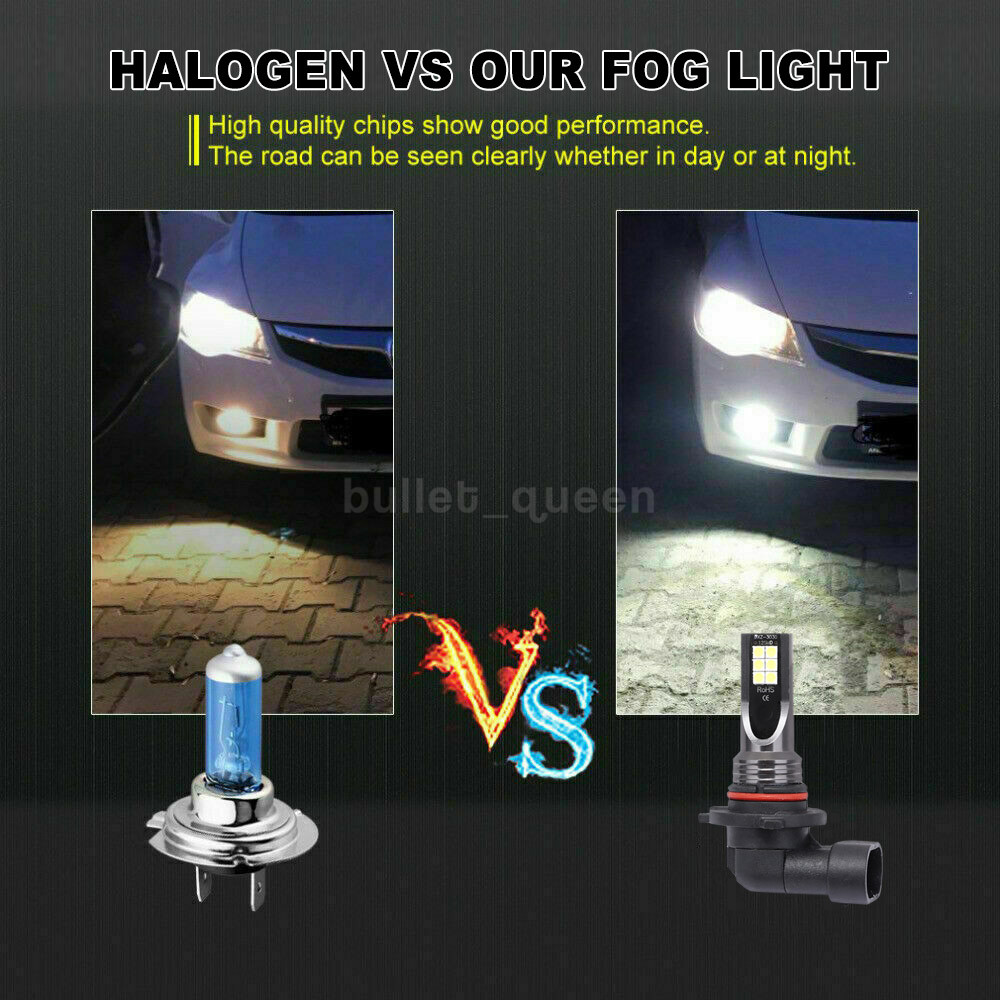 9005 LED DRL Daytime Running Light Fog Bulb H11 H8 White