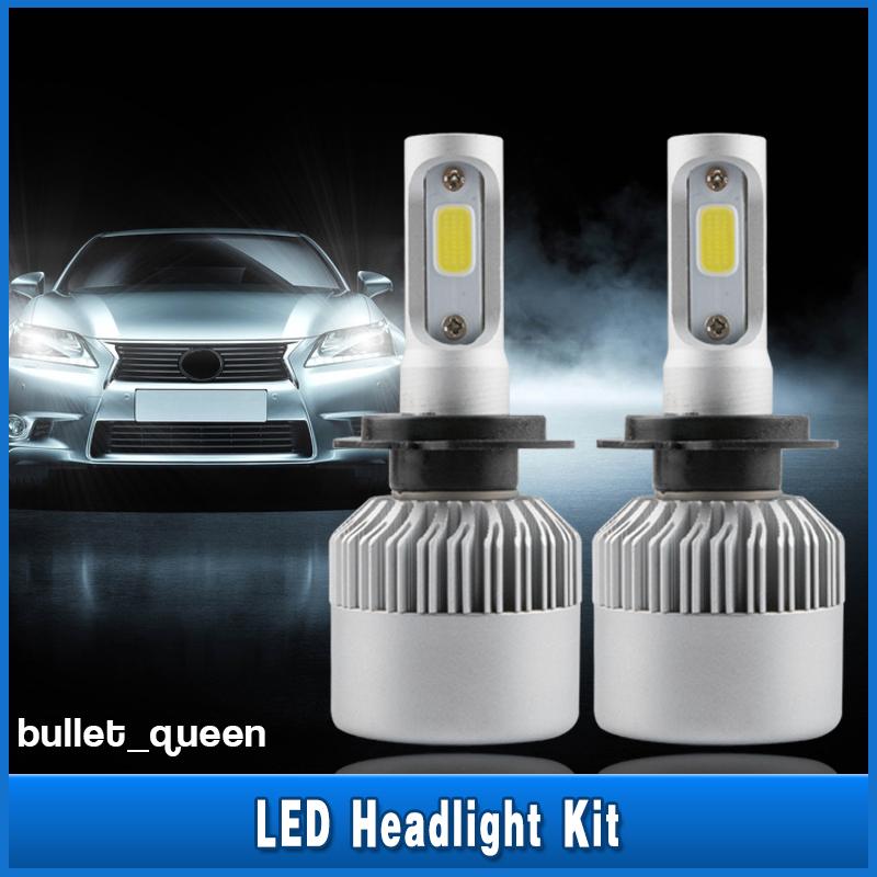 H1 252W LED Headlight Kit 6000K White Car Bulbs Lamps DRL Light COB Beam Bright