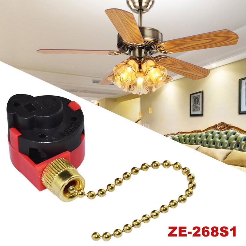 Details about Zing Ear ZE-268S1 Switch 4 Wire 3 Speed Ceiling Fan Light on