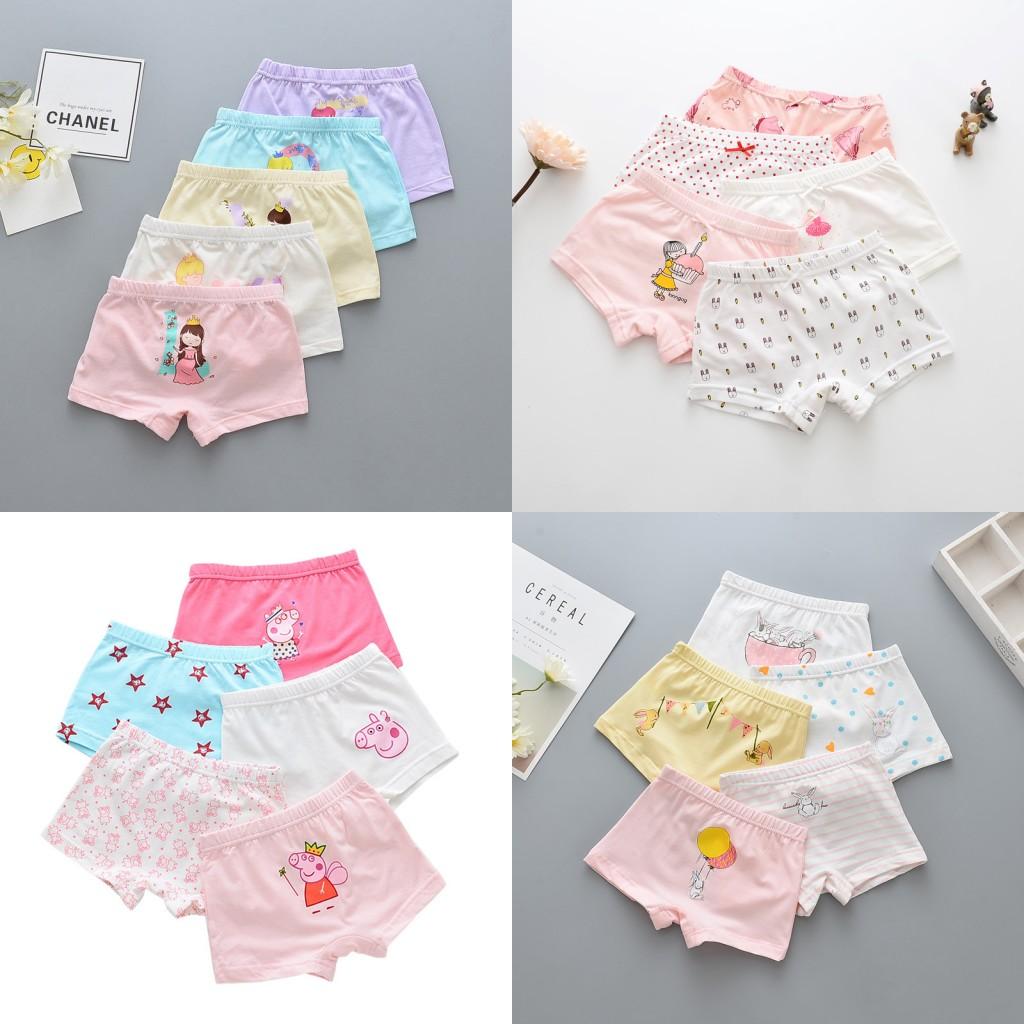 62f3a69de83b Details about 5 Pack Girls Cotton Boxer Shorts Underwear Briefs Cotton Age  2 4 6 810 12 14 Yrs