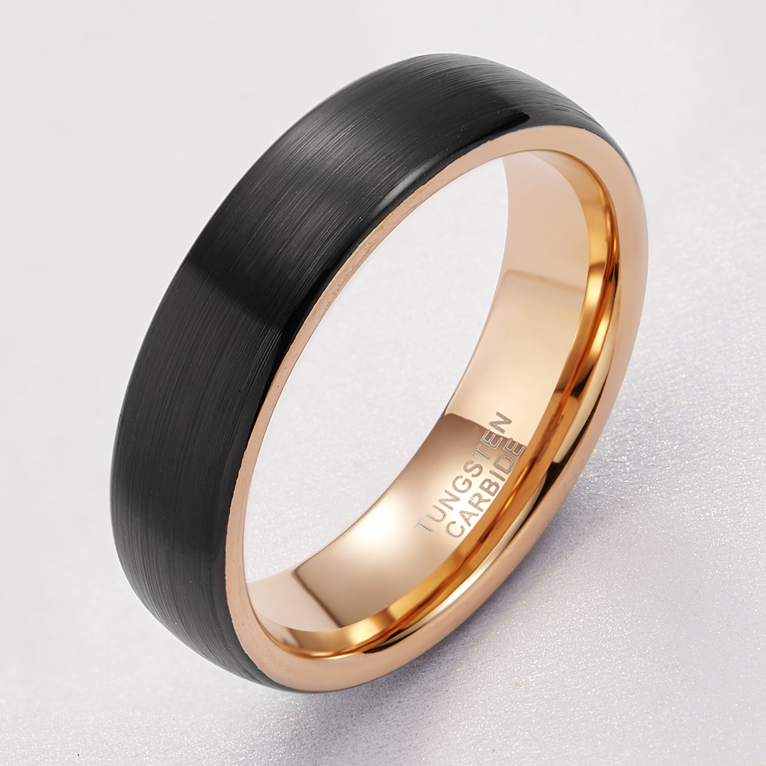 8//6mm Brushed Men /& Women Dome Tungsten Carbide Ring Comfort Fit Wedding Band