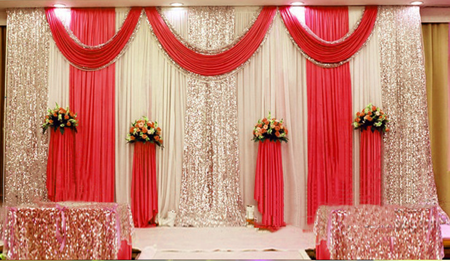 20x10ft wedding decor stage backdrop party drapes swag silk 20x10ft wedding decor stage backdrop party drapes swag silk fabric curtain 03 ebay junglespirit Gallery