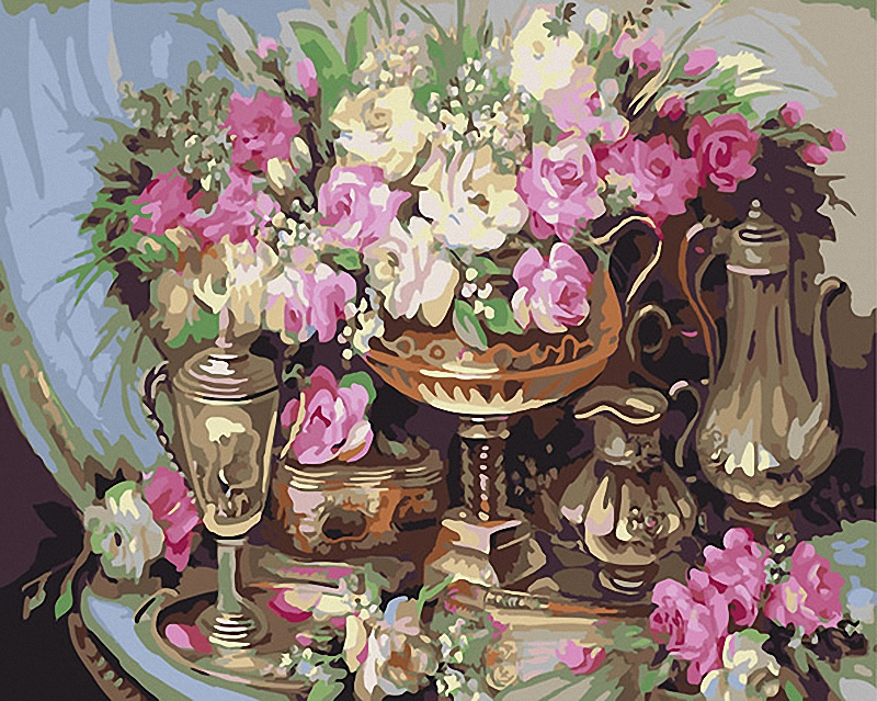 "16X20/"" Paint By Number Kit DIY Oil Painting on Canvas Flower Carrousel SPA1014"