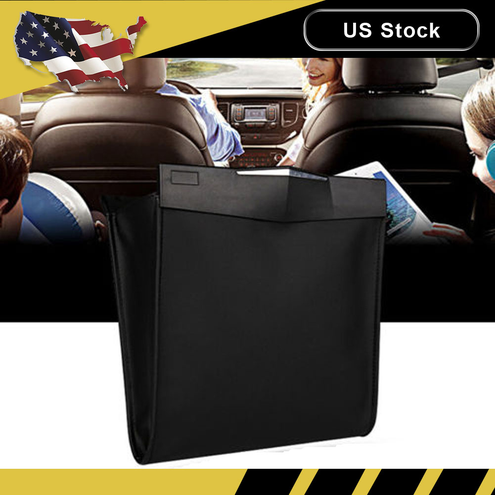 Car Auto Trash Bag Can Bin Garbage Gap Leak Proof Organizer Wastebasket Holder