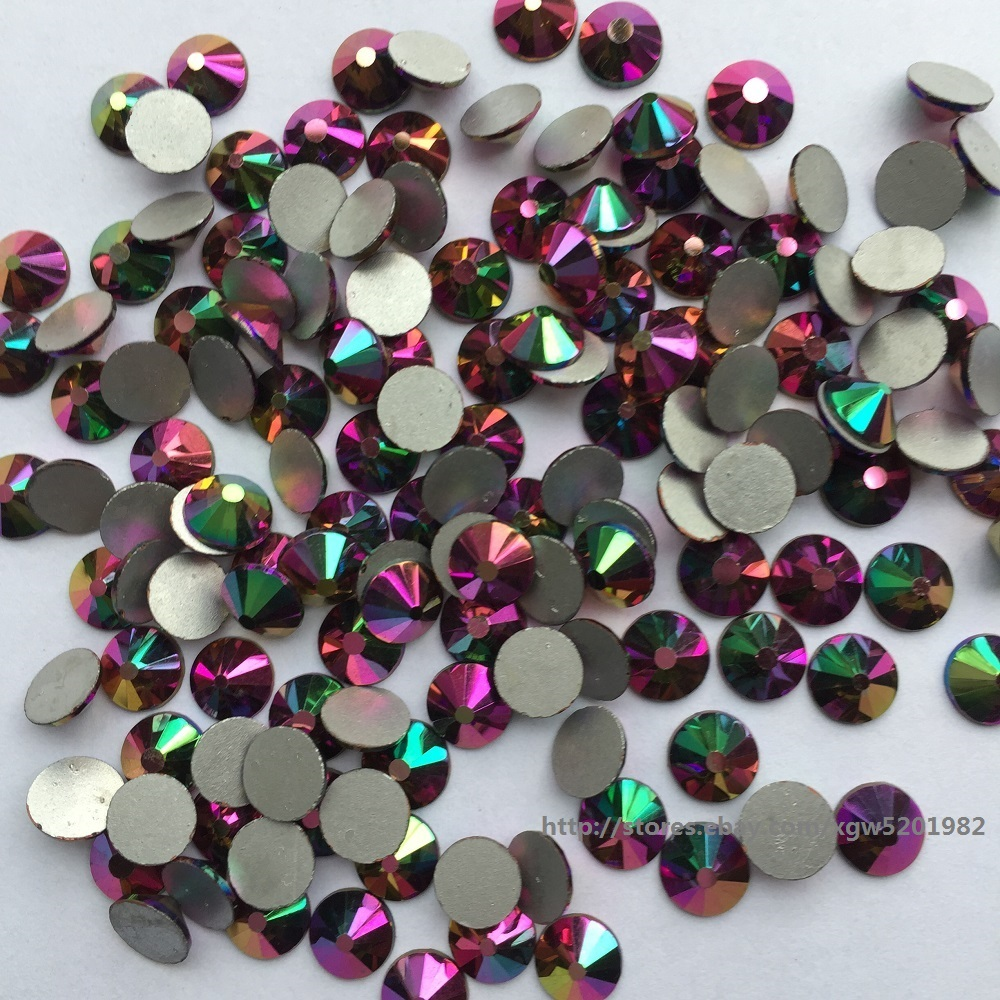 4mm Rainbow 100 x Glass Hotfix Rhinestones