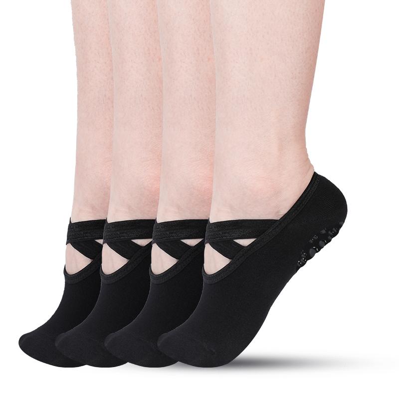 Yoga Grip  Barre Pilates Ballet Dance Low Cut Sport Socks Non Slip Skid Cotton