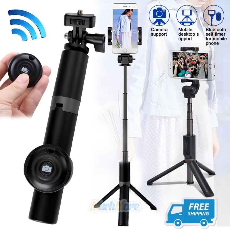 Details about New Bluetooth Selfie Stick Tripod Monopod Remote Control 360°  Clamp iOS Android