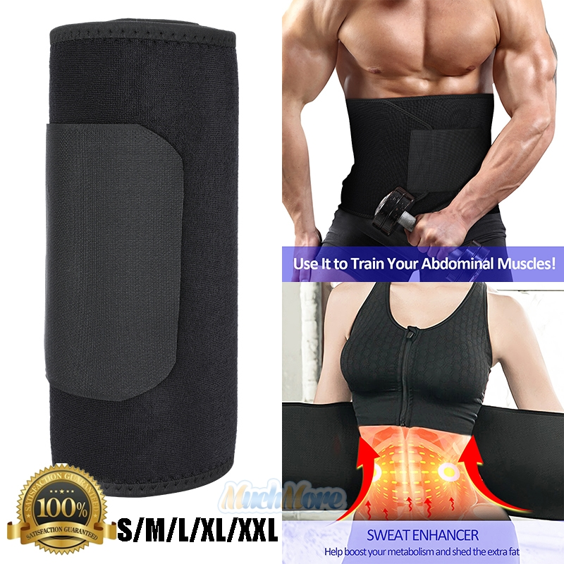 Details About Men Waist Trimmer Belt Sweat Wrap Tummy Stomach Weight Loss Fat Burner Slimming