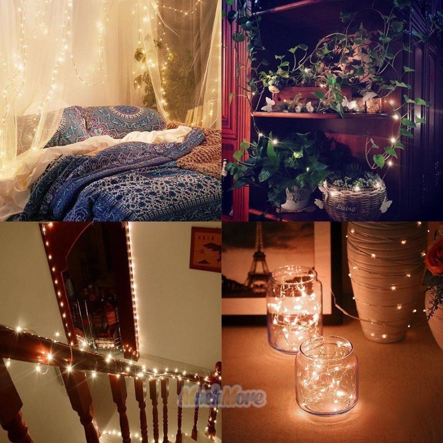 2X 10M/33FT Warm White 100LEDs String Fairy Lights Home ...