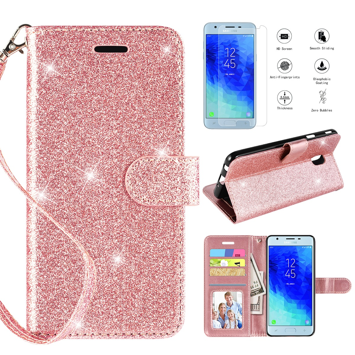 low priced 7572d 5cd31 Details about For Samsung Galaxy J3 2018/J3 Star/J3 Achieve/J3 Aura/J3  Orbit/J3 V 3rd Gen Case