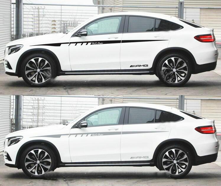 2019 Mercedes Benz Glc Coupe Camshaft: Vinyl Auto Waist Line Car Sticker Stripe Decal For