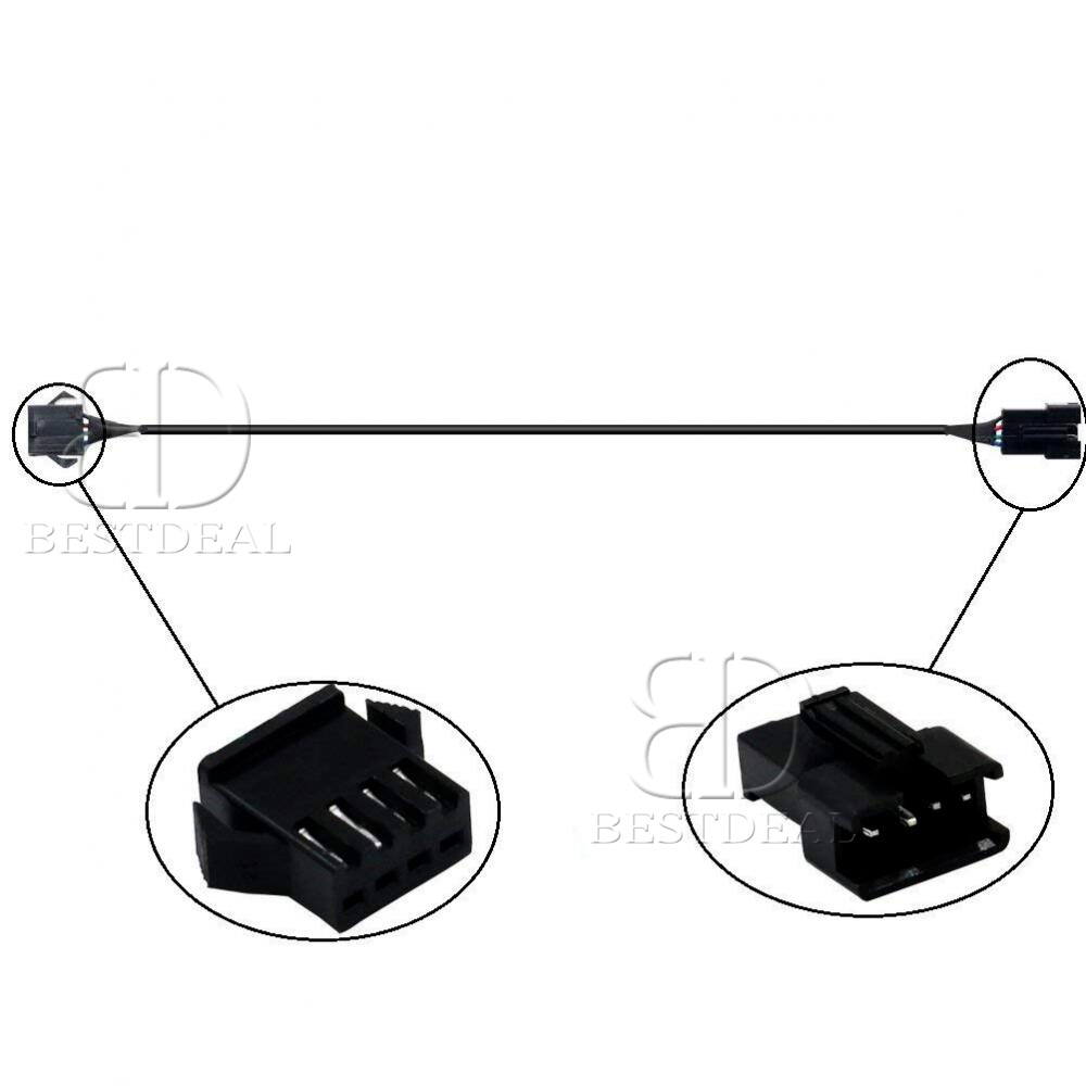 2pcs 47 Extension Wires For Motorcycle Led Rgb Underglow Neon Pod Car Wiring Diagram Strip Light