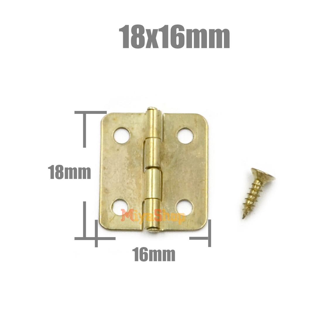 10 50 100pcs Metal Cabinet Drawer Door Butt Hinge With