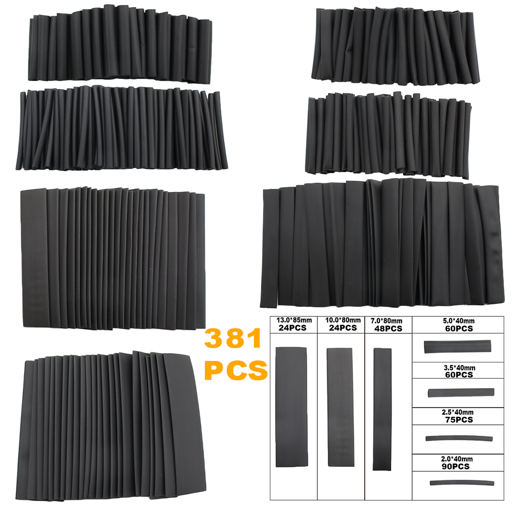 1060PCS 2:1 Heat Shrink Tubing Insulation Shrinkable Tube Wire Cable Sleeve NEW