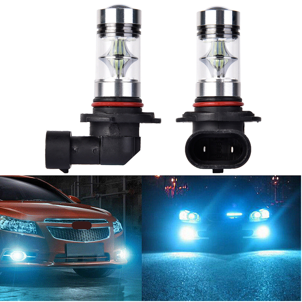 2X 9145 H10 High Power 100W LED 8000K Ice Blue Fog Light Lamps Bulbs free USPS