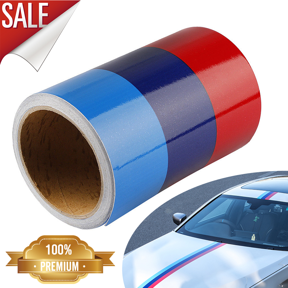 Details about 5FT M-Colored Car Door Body Stripe Hook Decal Sticker  Decoration For BMW IN USA