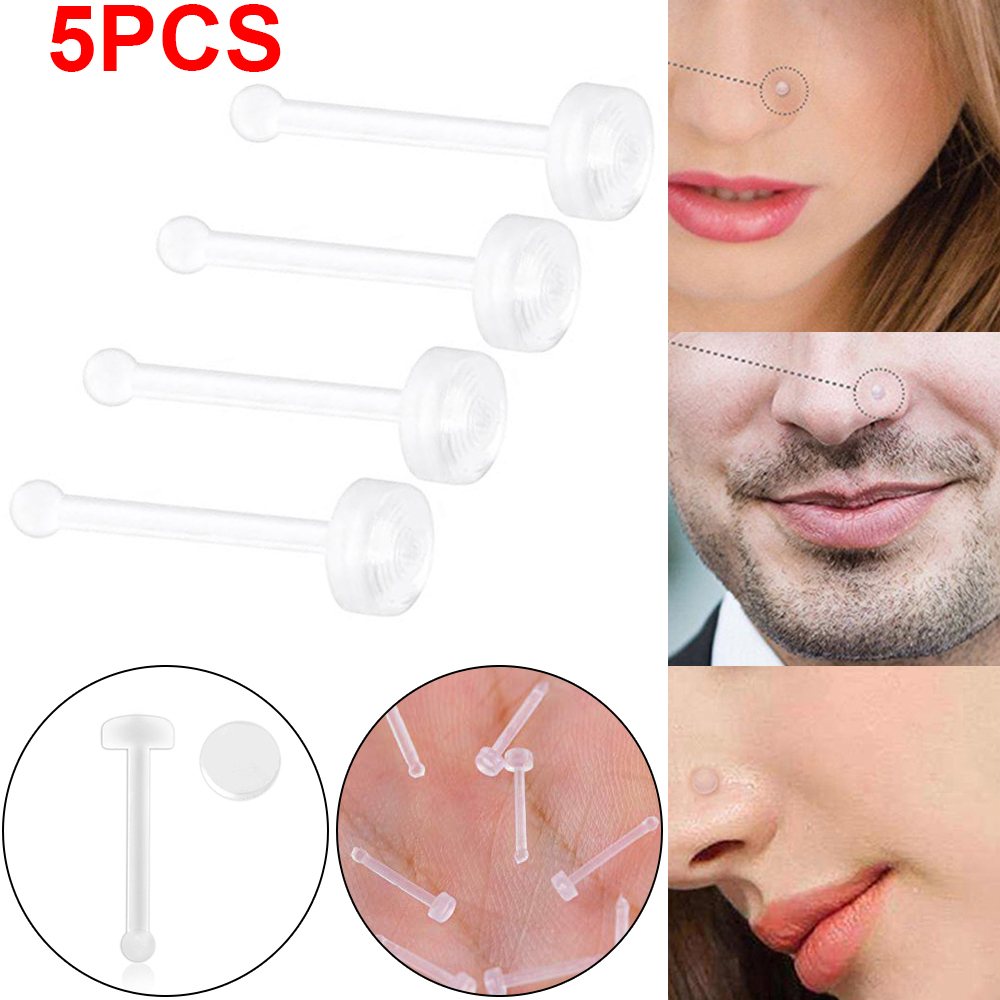 Jewelry Watches Body Piercing Jewelry 5packs 20g 2mm Slim Clear
