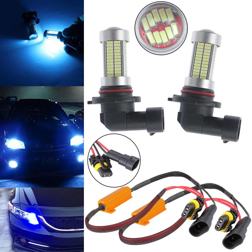 8000K Blue 9005 HB3 LED 106*3014 SMD Daytime Running Light